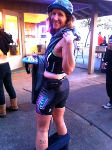 Teammate Monica was celebrating her 50th by doing this tri. WAY TO GO GIRL!