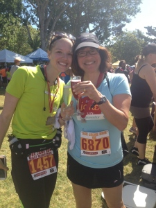Her first race, her first half marathon! ROCKSTAR.