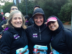 Mary, Lisa & Lily at the start!