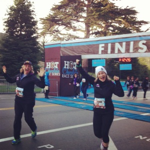 Woo hooo! First finish line ever!